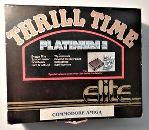 8 Jeux Amiga Thrill Time Platine 2 Par Elite Non Testés C/w Instructions-afficher Le Titre D'origine