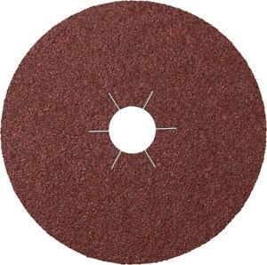 Box of 25 FIBRE DISC 125mm (5 inch) 60 Grit Aluminium Oxide Sanding Discs Klin