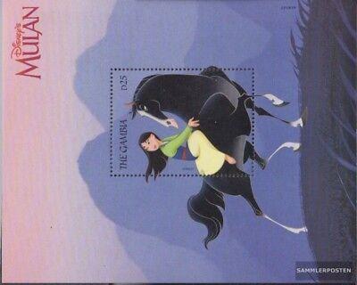 Mnh 1998 Walt-disney-zeichentrickfilm Mulan completa Edizione Dutiful Gambia Block385