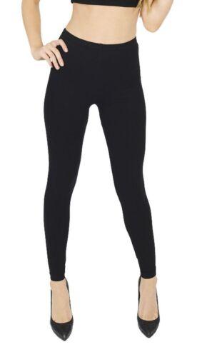 Womens Thick Warm Footless Slim Stretch Cotton Leggings Skinny Ladies Plain Pant