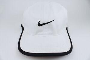 5445c227d27 NIKE FEATHER LIGHT DRI-FIT ADJUSTABLE CAP HAT WHITE BLACK TRAINING ...