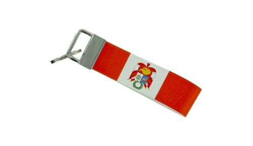 Schlüsselanhänger Schlüsselring auto keyring band flagge fahne peru jdm