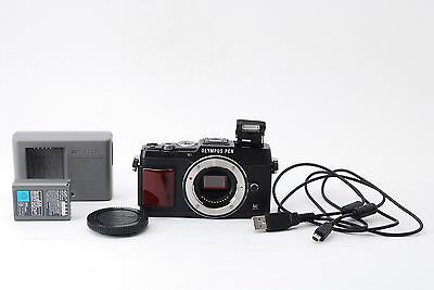 *MINT!!* Olympus PEN E-P5 Premium Model Black Body Only From JAPAN #229