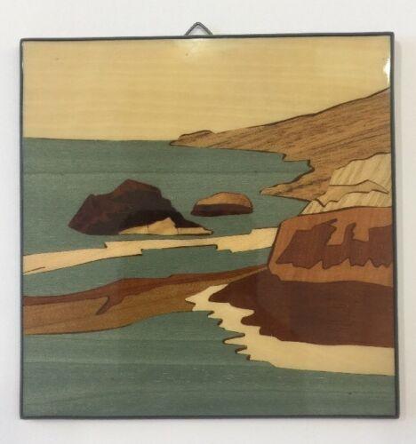 Sorrento inlaid wood.Intarsio-Amalfi Coast Wall Plaque-Made by hand in Italy