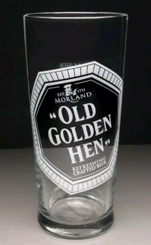 """Morland Old Speckled Hen/""""Old Golden Hen/""""pint glass Father/'s Day gift free uk p/&p"""