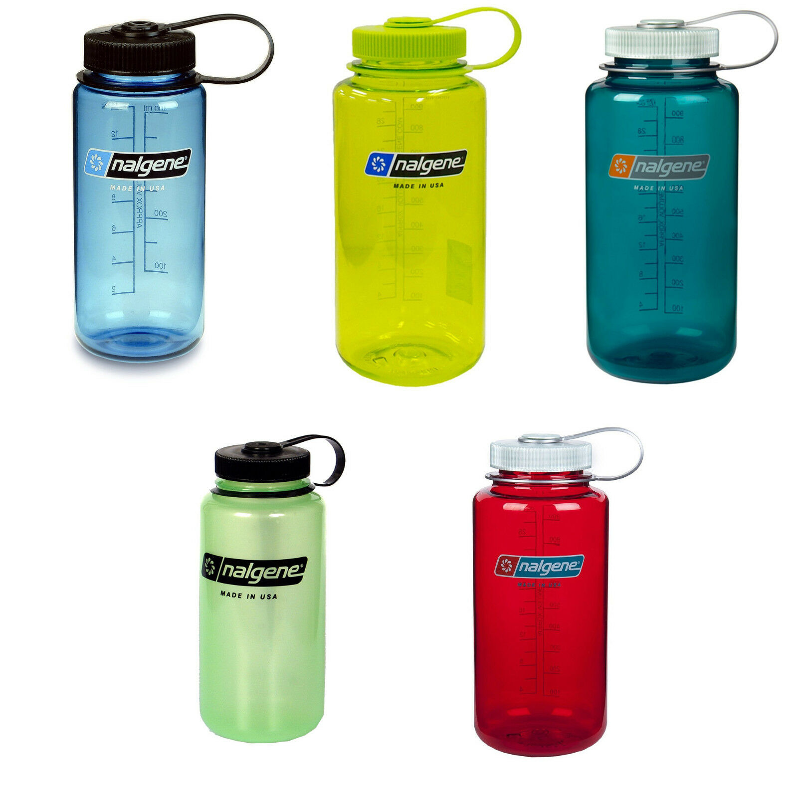 Details About Nalgene Tritan Wide Mouth Bpa Free 32 Ounce Water Bottle 20 Colors