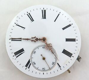 VERY-NICE-EARLY-1900s-SWISS-LEVER-SET-POCKET-WATCH-MOVEMENT-amp-DIAL