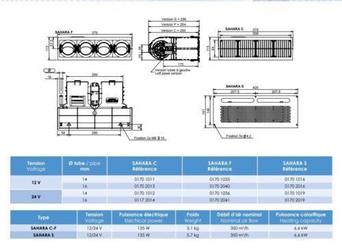 Universelle eau de refroidissement Chauffage Chauffage Pour Bus Camion 9 Kw 12 V