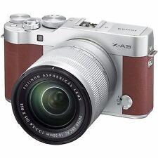 Fujifilm X-A3 xA3 Mirrorless with Fujinon XC 16-50mm F3.5-5.6 OIS II Lens Brown
