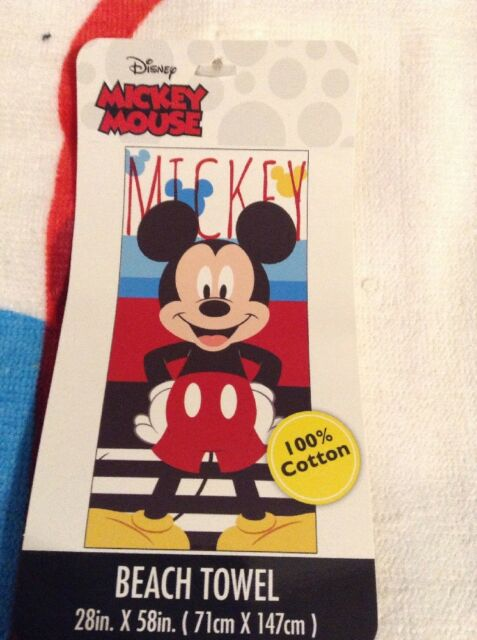 """Disney Minnie Mouse Beach Towel 28X58 Inches 100/% Cotton /""""Standing Tall/"""""""