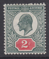 SG 290 2d Very Deep Dull Green & Bright Red M13 (-) unlisted shade, mounted mint