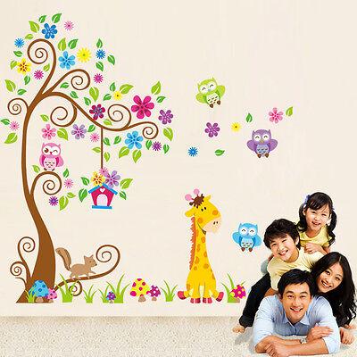 Kindergarten Children Room Animal Waterproof Home Decor Wall Stickers