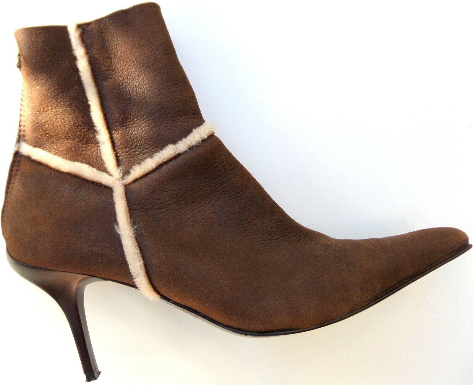 CASADEI Luxus ANKLE Fell Stiefel STIEFELETTE in Gr. U S 11 D 41 e v t l. 41.5