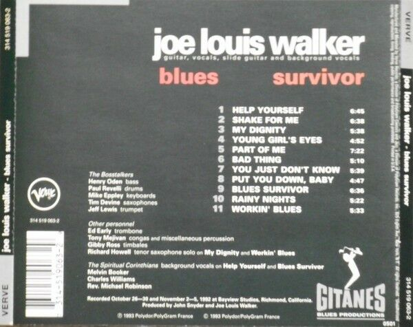Joe Louis Walker : Blues Survivor, blues
