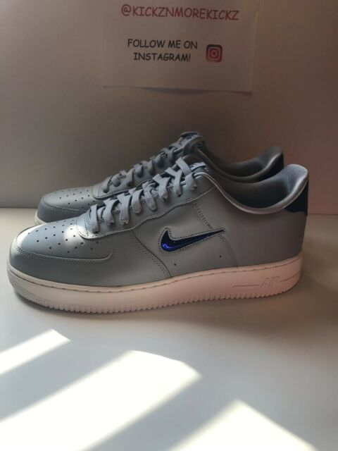 buy popular 51165 c1dab Nike Air Force 1 07 LV8 Leather Wolf Grey Royal Blue AJ9507-002 Mens Size  13 DS