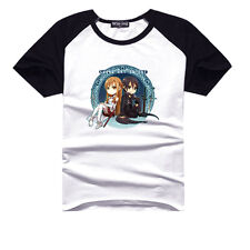 Anime Sword Art Online Cotton Shirt Short Sleeve T-shirt Clothes Fashion Casual