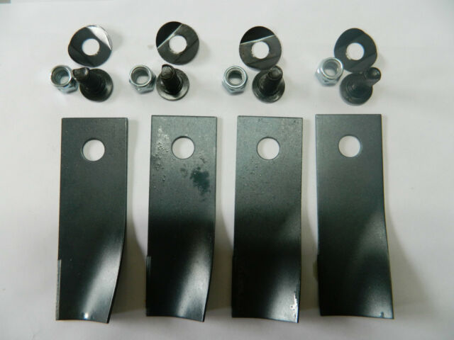LAWN MOWER BLADE KIT FOR ROVER MOWERS x 4 BLADES AND BOLTS AUSTRALIAN MADE