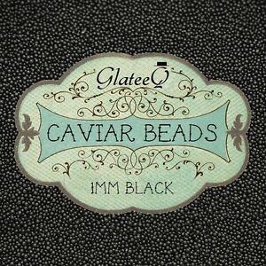 GlateeQ-40g-Black-1mm-Caviar-Beads-Craft-Nail-Art-amp-Ciate-Style-Manicure