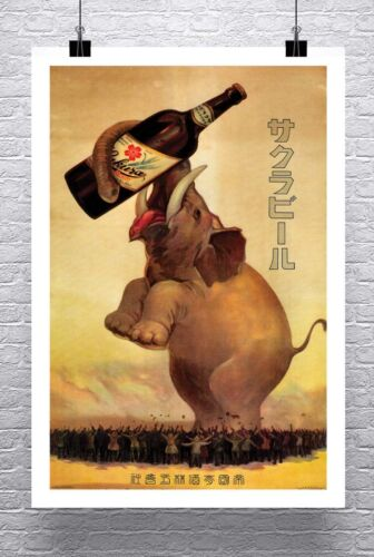 Sakura Beer Vintage 1921 Alcohol Advertising Poster Canvas Giclee Print 24x36 in