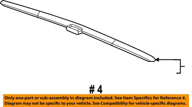 HONDA OEM 13-17 Accord-Wiper Blade 76620T2FA01