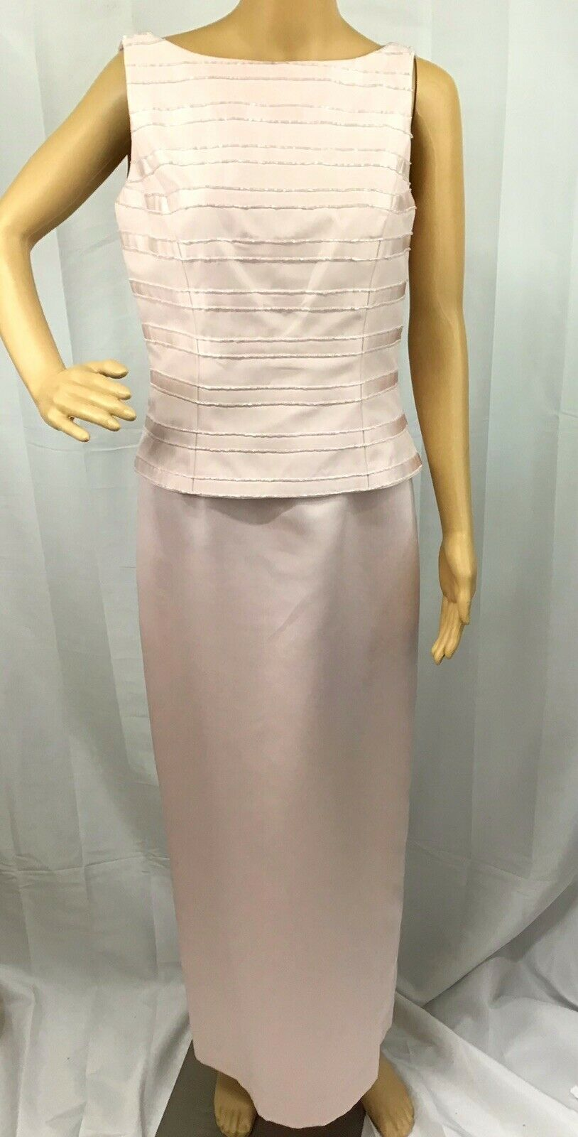 VINTAGE COUTURE MARIE ST. CLAIRE PINK BEADED TRIM… - image 1
