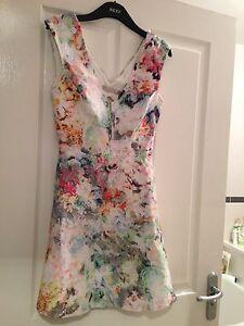 Zara Floral Cut Out Dress Size L