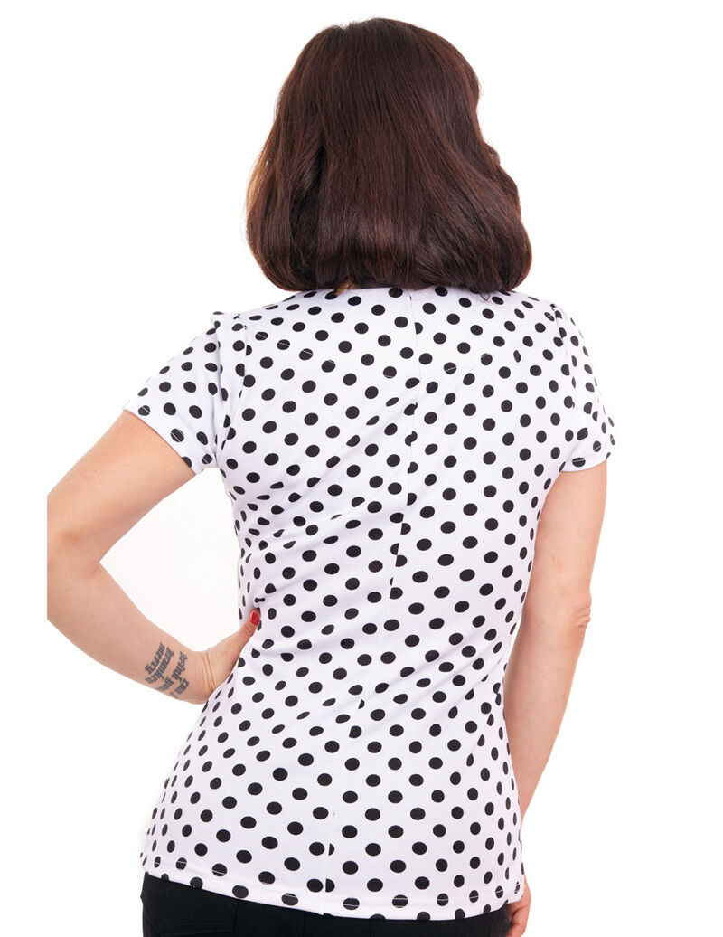 Polka Dot Top-Rockabilly-Pinup Girl - - - 1950s Stile Camicia-Rock Steady Nuovo 8 9350ec