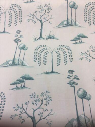 Sanderson Cortina Tela Willow Tree aqua//ivory Por Metros