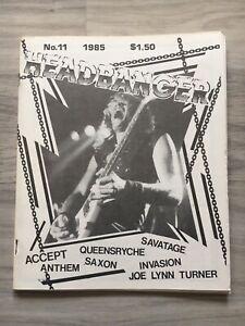 Headbanger MAGAZINE No. 11 1985 Saxon Anthem Savatage ...