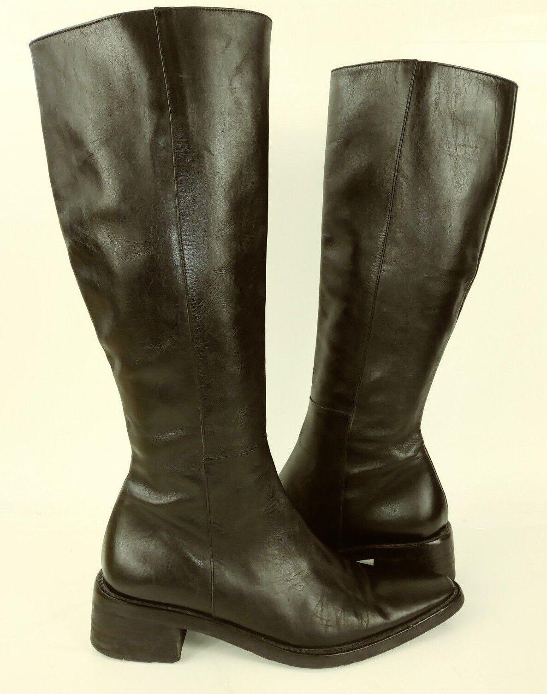 vendita calda online IPEM 1612 1612 1612 donna stivali Tall EU 36 US 6 nero Leather Pointy Toe Casual 2675  migliore marca