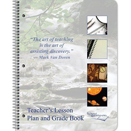 NEW Teacher Lesson Plan and Grade Book 8.5 x 11  Undated  Designed by Teachers!