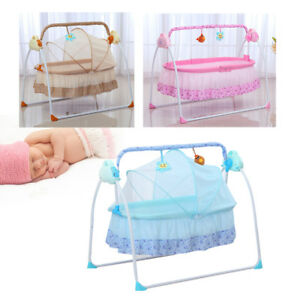 Image Is Loading Electric Baby Crib Cradle Infant Rocker Auto Swing
