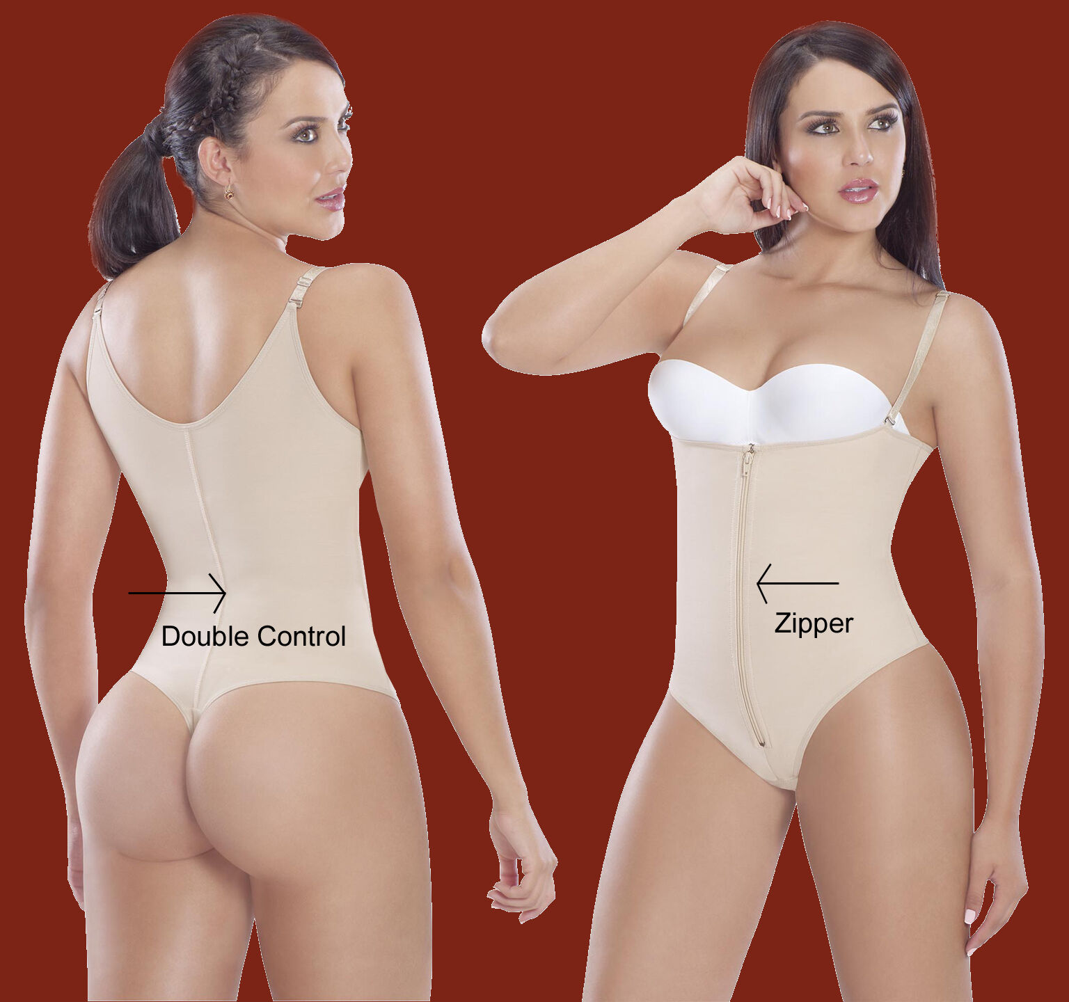 Post Operatoria Faja Colombiana thong style with Compression Powernet 9104
