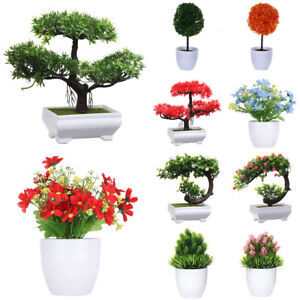 Home Decorations Lifelike Plants Simulation Flower Potted Artificial Bonsai
