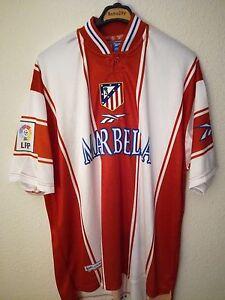 REEBOK-vtg-Atletico-de-Madrid-1998-1999-Final-Copa-Rey-soccer-vintage-camiseta