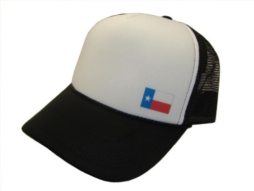 Black /& White Texas State Flag Classic Foam Mesh Trucker Cap Caps Hat Hats