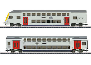 Marklin-h0-43573-doble-piso-auto-set-la-NMBS-SNCB-apto-para-29474-nuevo-embalaje-original