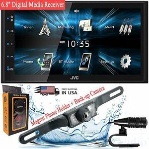 "JVC KW-M150BT 6.8"" car audio Digital Media Receiver + Camera + Phone Holder"