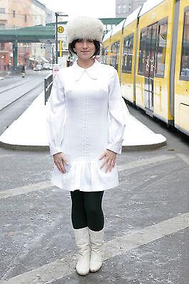 Clarissa Modelli Donna Vestito Dress Bianco White 70er True Vintage 70´s Women-mostra Il Titolo Originale