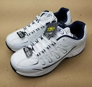 Brand-New-Shoes-Size-4E-WIDE-WIDTH-Mens-Athletic-Works-White-Navy-Memory-Foam