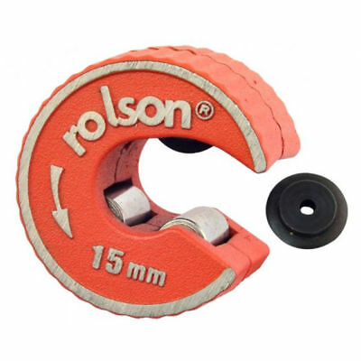 Rolson Rotary Action 15mm Copper Pipe Cutter /& Spare Wheel *