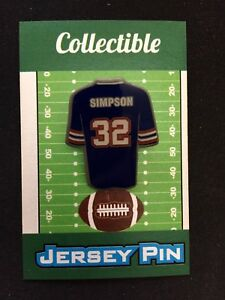 super popular fa8c1 a3511 Buffalo Bills OJ Simpson jersey lapel pin-Collectible-Retro ...