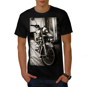Wellcoda-Old-Retro-Mens-T-shirt-Motorcycle-Graphic-Design-Printed-Tee