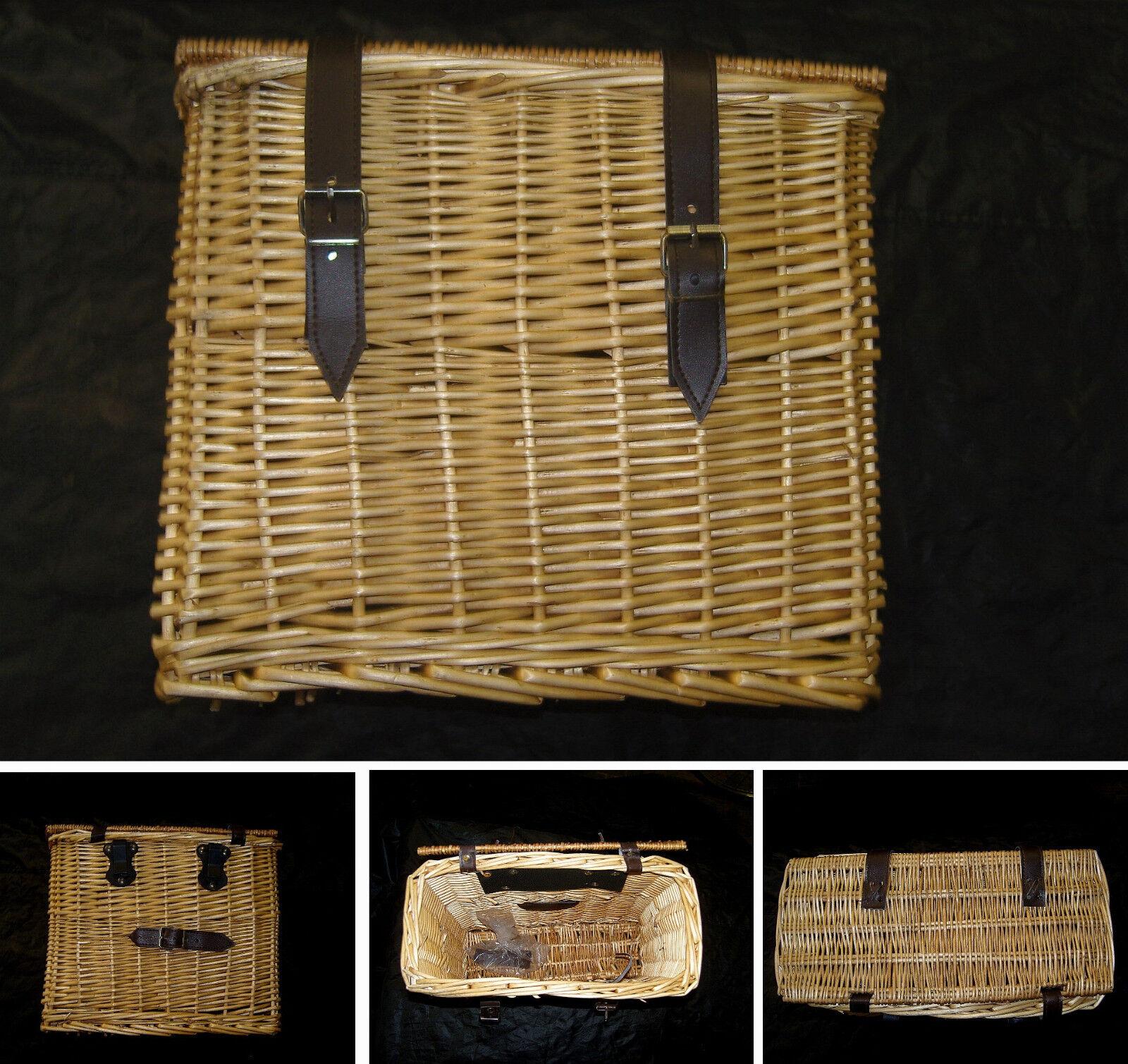 SACCA / bici CESTINO Vimini per bicicletta bici / bacchetta Bicycle Side bag 59fe1f