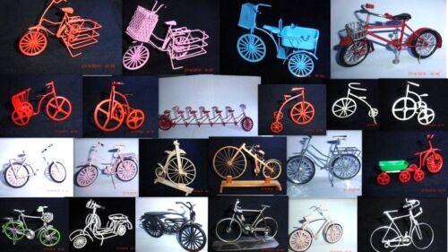 Miniatura bicicleta tándem heredada bicicleta de carreras herrnrad motocicleta metal decorativas modelo