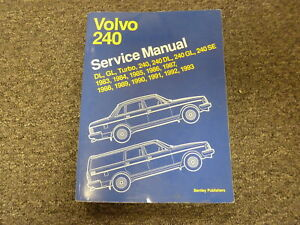 1983 1984 1985 volvo 240 dl gl se turbo sedan wagon shop service rh ebay com 1990 Volvo 240 1990 Volvo 240