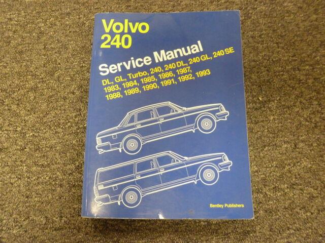 1983 1984 1985 Volvo 240 Dl Gl Se Turbo Sedan Wagon Shop