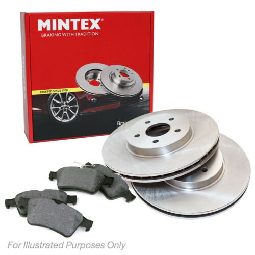New VW Touran 1T1 1T2 1.6 FSI MPV Genuine Mintex Front Brake Disc /& Pad Set