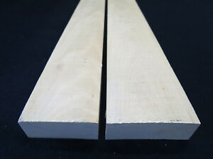 "*Premium* Holly American lumber white wood 2 PCS 1"" x 2-3""W x 18"" to 27""L - KD!"