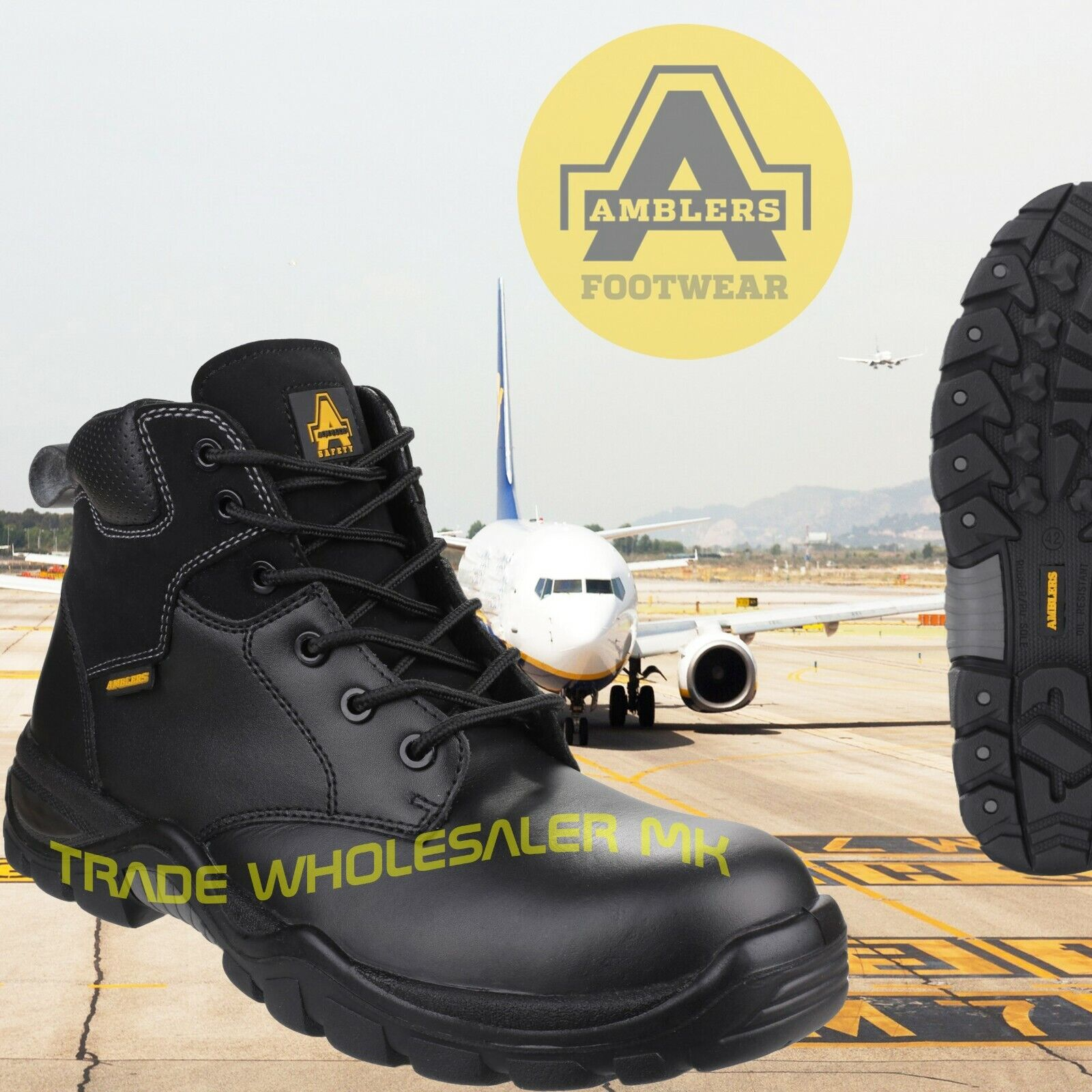 Tactical Composite Toe Safety Police Work  Metal Free Safety boots Airside safe